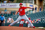 1 March 2019: Washington Nationals pitcher Tanner Rainey on the mound during Spring Training play against the Miami Marlins at Roger Dean Stadium in Jupiter, Florida. The Nationals defeated the Marlins 5-4 in Grapefruit League play. Mandatory Credit: Ed Wolfstein Photo *** RAW (NEF) Image File Available ***