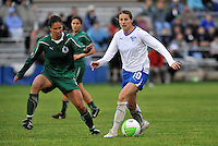 Kelly Smith #10, Shannon Boxx...Saint Louis Athletica and Boston Breakers played to a 1-1 tie at Anheuser-Busch Soccer Park, Fenton, Missouri.
