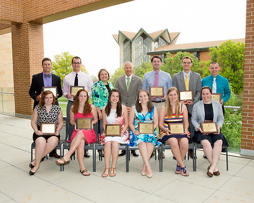 The annual Valparaiso University Alumni Association (VUAA) Distinguished Student Awards recognize graduating students from the Colleges of Arts and Sciences, Business, Engineering, Nursing, Christ College, the School of Law, and the Graduate School. Eleven students were recognized for their outstanding achievements at Valparaiso University.  They were Claire Mueller, Anna Wiersma, Natalie Zibolski, Joshua Kalita, Halina Hopkins, Kaitlin Forke, Jesse Fosheim, Benjamin Macy, Andrew Stem, Bryan Rogers, and Catherine Wingstrom.