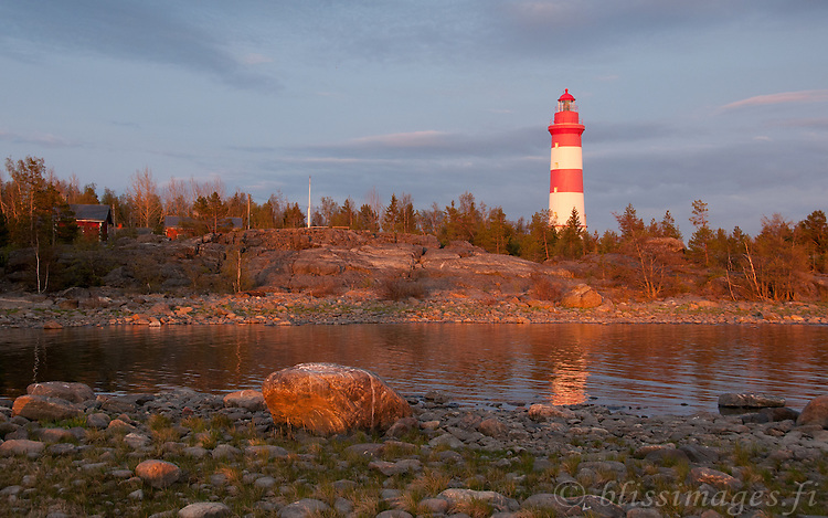 Sälgrund Lighthouse at Sundown -western Finland