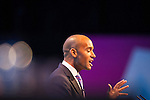 © Joel Goodman - 07973 332324 . 23/09/2013 . Brighton , UK . Shadow Business Secretary , CHUKA UMUNNA speaks during the Work and Business session . Day 2 of the Labour Party 's annual conference in Brighton . Photo credit : Joel Goodman