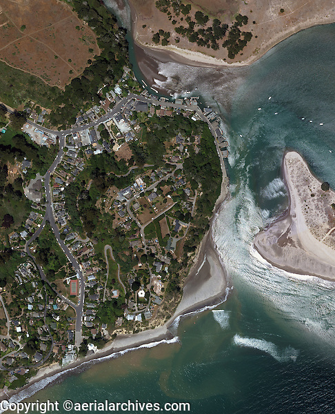 aerial photo map of  Bolinas, Marin County, California