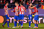 Atletico de Madrid's player Saúl Ñígez, Fernando Torres, Sime Vrsaljko, Yannick Carrasco and Antoine Griezmann celebrating a goal during a match of UEFA Champions League at Vicente Calderon Stadium in Madrid. November 01, Spain. 2016. (ALTERPHOTOS/BorjaB.Hojas)