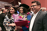 Students celebrate their graduation with family and friends after the DePaul University College of Law commencement ceremony, Sunday, May 14, 2017, at the Rosemont Theatre in Rosemont, IL, where some 240 students received their Juris Doctors or Master of Laws degrees. (DePaul University/Jeff Carrion)