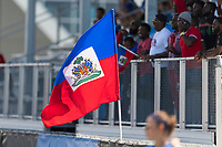 Bradenton, FL - Sunday, June 12, 2018: Haitian flag prior to a U-17 Women's Championship 3rd place match between Canada and Haiti at IMG Academy. Canada defeated Haiti 2-1.