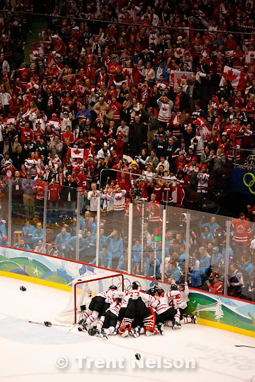 Trent Nelson  |  The Salt Lake Tribune.Canada defeats Team USA in the gold medal game, women's Ice Hockey at the Canada Hockey Place, Vancouver, XXI Olympic Winter Games, Thursday, February 25, 2010.