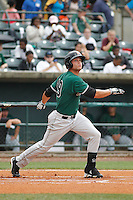 Augusta GreenJackets outfielder Hunter Cole (19) at bat during a game against the Charleston Riverdogs at Joseph P.Riley Jr. Ballpark on April 15, 2015 in Charleston, South Carolina. Charleston defeated Augusta 8-0. (Robert Gurganus/Four Seam Images)