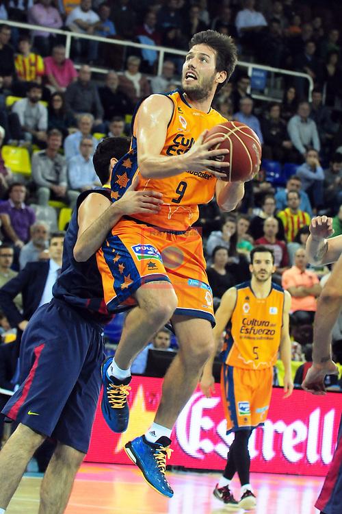 League ACB-Endesa 2014/2015 - Game: 07.<br /> FC Barcelona vs Valencia Basket Club: 76-57.<br /> Sam Van Rossom.