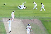 PICTURE BY ALEX WHITEHEAD/SWPIX.COM - Cricket - County Championship Div Two - Yorkshire v Glamorgan, Day 2 - Headingley, Leeds, England - 05/09/12 - Glamorgan's Nick James is caught by Yorkshire's Andy Hodd (bowled by Steven Patterson).