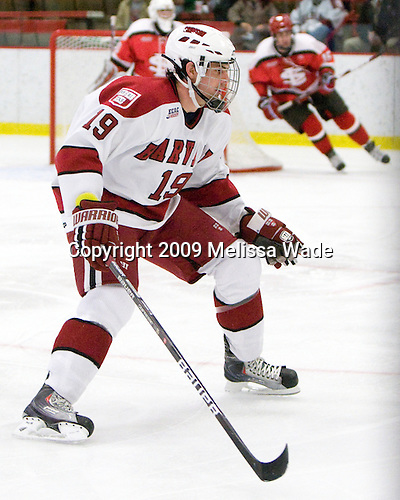 Alex Killorn (Harvard - 19) - The St. Lawrence University Saints defeated the Harvard University Crimson 3-2 on Friday, November 20, 2009, at the Bright Hockey Center in Cambridge, Massachusetts.
