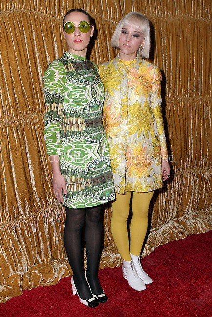 WWW.ACEPIXS.COM<br /> <br /> February 16, 2015 New York City<br /> <br /> Mia Moretti and Caitlin Moe (R) at the alice + olivia by Stacey Bendet fashion presentation on February 16, 2015 in New York City. <br /> <br /> By Line: Nancy Rivera/ACE Pictures<br /> <br /> <br /> ACE Pictures, Inc.<br /> tel: 646 769 0430<br /> Email: info@acepixs.com<br /> www.acepixs.com