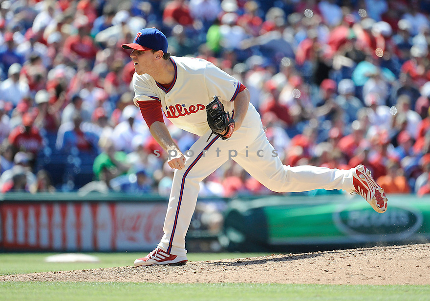 Philadelphia Phillies Justin De Fratus (79) during a game against the Miami Marlins on June 5, 2013 at Citizens Bank Park in Philadelphia PA. The Phillies beat the Marlins 6-1.