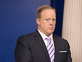 White House Press Secretary Sean Spicer participates in a briefing at the White House in Washington, DC, May 16, 2017. Credit: Chris Kleponis / CNPWhite House Press Secretary Sean Spicer participates in a briefing at the White House in Washington, DC, May 16, 2017. <br /> Credit: Chris Kleponis / CNP