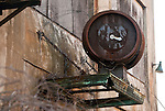 WATERBURY,  CT-122316JS06-An old clock site above the doorway of one of the building at the old Waterbury Clock Company in Waterbury. <br />  Jim Shannon Republican American