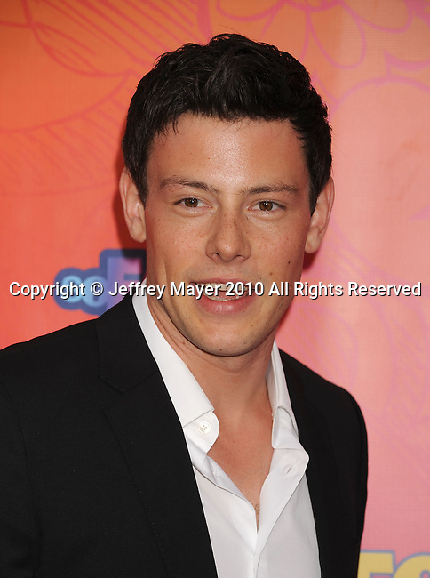 SANTA MONICA, CA. - August 02: Cory Monteith arrives at the FOX 2010 Summer TCA All-Star Party at Pacific Park - Santa Monica Pier on August 2, 2010 in Santa Monica, California.