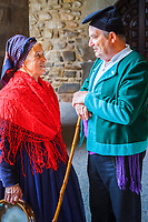 villagers in regional costume, Orujo fair, Potes, Comarca of Liebana, Cantabria, Spain