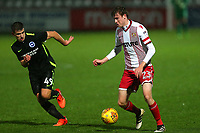 James Ferry of Stevenage and Jayson Molumby of Brighton during Stevenage vs Brighton & Hove Albion Under-21, Checkatrade Trophy Football at the Lamex Stadium on 7th November 2017