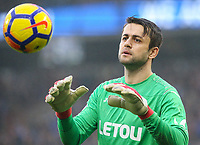 Swansea City's Lukasz Fabianski<br /> <br /> Photographer Alex Dodd/CameraSport<br /> <br /> The Premier League - Huddersfield Town v Swansea City - Saturday 10th March 2018 - John Smith's Stadium - Huddersfield<br /> <br /> World Copyright &copy; 2018 CameraSport. All rights reserved. 43 Linden Ave. Countesthorpe. Leicester. England. LE8 5PG - Tel: +44 (0) 116 277 4147 - admin@camerasport.com - www.camerasport.com