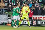 13.04.2019, Weserstadion, Bremen, GER, 1.FBL, Werder Bremen vs SC Freiburg<br /> <br /> DFL REGULATIONS PROHIBIT ANY USE OF PHOTOGRAPHS AS IMAGE SEQUENCES AND/OR QUASI-VIDEO.<br /> <br /> im Bild / picture shows<br /> Spielerwechsel Werder Bremen, Einwechslung Stefanos Kapino (Werder Bremen #27), Theodor Gebre Selassie (Werder Bremen #23), Max Kruse (Werder Bremen #10), <br /> <br /> Foto &copy; nordphoto / Ewert