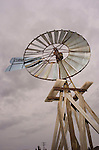 Windmills and railroad artifacts at the Limon, Colorado, Museum--Currie Swallow-tail windmill