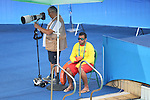 General view, <br /> AUGUST 12, 2016- Water Polo : <br /> Men's Preliminary Round group A<br /> match between Hungary - Japan <br /> at Maria Lenk Aquatic Centre <br /> during the Rio 2016 Olympic Games in Rio de Janeiro, Brazil. <br /> (Photo by Koji Aoki/AFLO SPORT)
