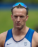 Richard Whitehead of GBR after his 200m T42 race during the Muller Grand Prix Birmingham Athletics at Alexandra Stadium, Birmingham, England on 20 August 2017. Photo by Andy Rowland.