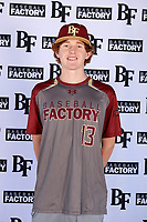 Kamren Backherms (13) of Elko High School in Elko, Nevada during the Baseball Factory All-America Pre-Season Tournament, powered by Under Armour, on January 12, 2018 at Sloan Park Complex in Mesa, Arizona.  (Mike Janes/Four Seam Images)