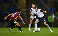 Bolton Wanderers' Adam Senior (right) competing with Bradford City's Danny Devine <br /> <br /> Photographer Andrew Kearns/CameraSport<br /> <br /> EFL Leasing.com Trophy - Northern Section - Group F - Bolton Wanderers v Bradford City -  Tuesday 3rd September 2019 - University of Bolton Stadium - Bolton<br />  <br /> World Copyright © 2018 CameraSport. All rights reserved. 43 Linden Ave. Countesthorpe. Leicester. England. LE8 5PG - Tel: +44 (0) 116 277 4147 - admin@camerasport.com - www.camerasport.com