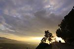Israel, Lower Galilee, Bet Keshet Scenic Road overlooking Jezreel Valley