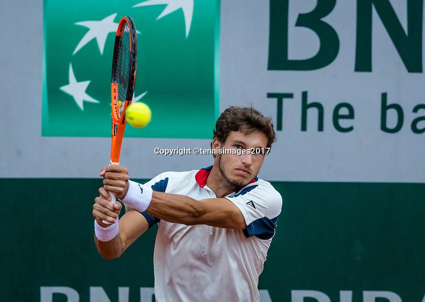 Paris, France, 4 June, 2017, Tennis, French Open, Roland Garros, Pablo Carreno  Busta (ESP)<br /> Photo: Henk Koster/tennisimages.com