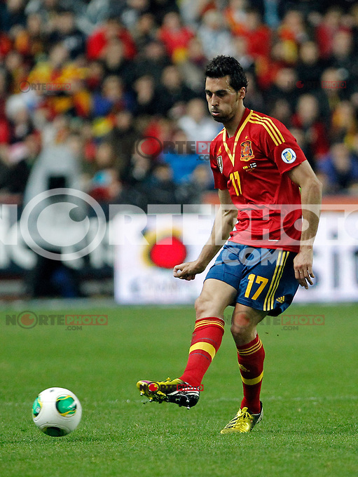 Spain's Alvaro Arbeloa during international match of the qualifiers for the FIFA World Cup Brazil 2014.March 22,2013.(ALTERPHOTOS/Victor Blanco)