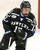 Jake Ahlgren (Bentley - 17) - The visiting Bentley University Falcons defeated the Northeastern University Huskies 3-2 on Friday, October 16, 2015, at Matthews Arena in Boston, Massachusetts.