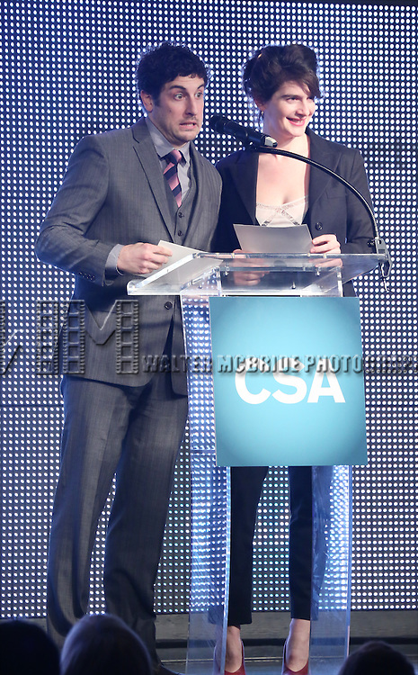 Jason Biggs and Gabby Hoffmann during the 30th Annual Artios Awards Presentation at 42 WEST on January 22, 2015 in New York City.