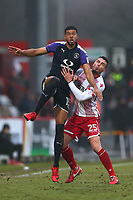 Jake Jervis of Luton Town and Ron Henry of Stevenage during Stevenage vs Luton Town, Sky Bet EFL League 2 Football at the Lamex Stadium on 10th February 2018