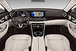 Stock photo of straight dashboard view of a 2018 Mercedes Benz E Class Base 2 Door Convertible