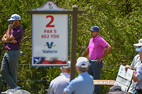 Julian Suri (USA) contemplates his tee shot on 2 as he waits  during Round 1 of the Valero Texas Open, AT&amp;T Oaks Course, TPC San Antonio, San Antonio, Texas, USA. 4/19/2018.<br /> Picture: Golffile | Ken Murray<br /> <br /> <br /> All photo usage must carry mandatory copyright credit (&copy; Golffile | Ken Murray)