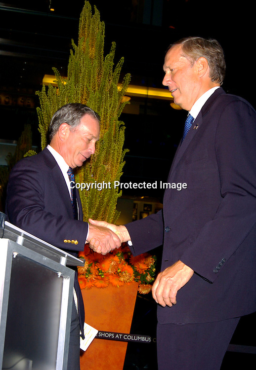 Mayor Michael Bloomberg and Governor George Pataki ..at the party given by the NYC Host Committee and Time Warner to welcome the Media to the Republican Convention on August 28. 2994