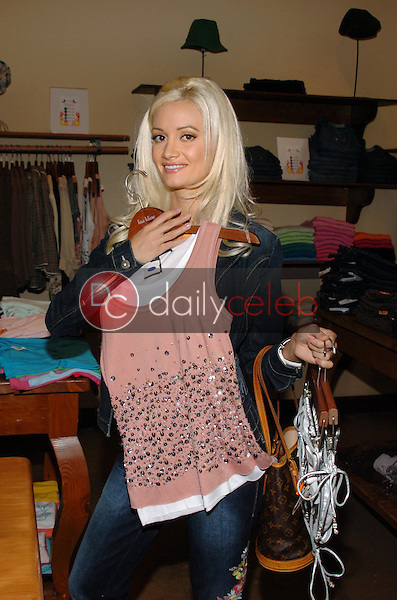 """Holly Madison<br />at the Worldwide unveiling of the all new """"Fox Film Icons"""" clothing line. Lisa Kline, Los Angeles, CA. 02-02-06<br />Scott Kirkland/DailyCeleb.Com 818-249-4998"""