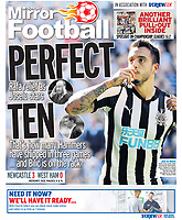 Sunday Mirror 27-Aug-2017 - 'PERFECT TEN' Joselu of Newcastle United - Photo by Rob Newell (Camerasport via Getty Images)