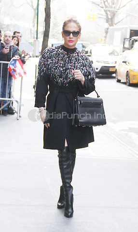 NEW YORK, NY - MARCH 2: Jennifer Lopez at The View promoting her NBC series Shades of Blue on March 2, 2106  in New York City. Credit: RW/MediaPunch
