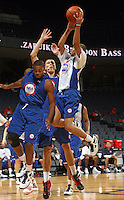 Michael Carter Williams at the NBPA Top100 camp June 18, 2010 at the John Paul Jones Arena in Charlottesville, VA. Visit www.nbpatop100.blogspot.com for more photos. (Photo © Andrew Shurtleff)