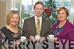 Enjoying the coffee morning in aid of Fossa national school in the Killarney Court hotel on Friday morning were Eileen Lucey, John O'Brien and Siobhan Bennett... Copyright Kerry's Eye 2008