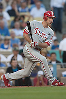 08/9/11 Los Angeles, CA: Philadelphia Phillies second baseman Chase Utley #26 during an MLB game against the Los Angeles Dodgers played at Dodger Stadium. The Phillies defeated the Dodgers 2-1.