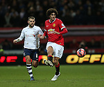 Preston's John Welsh tussles with Manchester United's Maroaune Fellaini<br /> <br /> FA Cup - Preston North End vs Manchester United  - Deepdale - England - 16th February 2015 - Picture David Klein/Sportimage