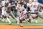 Wisconsin Badgers wide receiver Quintez Cephus (87) runs after a reception during an NCAA College Big Ten Conference football game against the Illinois Fighting Illini Saturday, October 28, 2017, in Champaign, Illinois. The Badgers won 24-10. (Photo by David Stluka)