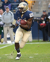 Pittsburgh running back Chris Burns. The Pittsburgh Panthers defeated the South Florida Bulls 41-14 at Heinz Field, Pittsburgh, PA on October 24, 2009.