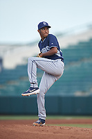 Starting pitcher Miguel Rondon (54), of the AZL Padres 1, during an Arizona League game against the AZL Angels on August 5, 2019 at Tempe Diablo Stadium in Tempe, Arizona. AZL Padres 1 defeated the AZL Angels 5-0. (Zachary Lucy/Four Seam Images)