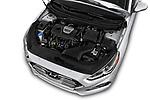 Car stock 2018 Hyundai Sonata Eco 4 Door Sedan engine high angle detail view