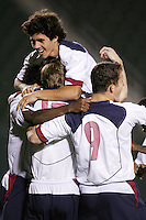 U-20 USMNT celebrates, USA over Trinidad, 6-1, Wednesday, Jan. 12, 2005, in Carson, California.