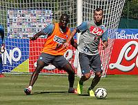 Napoli Calcio ritiro precampionato a Dimaro ( TN)  18 Luglio 2014<br /> nella foto   Kalidou Koulibaly   Goran Pandev
